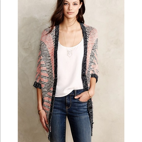 Anthropologie Moth Short Sleeve Cardigan Size S